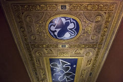 Henri II room ceiling, The Louvre, Paris, France Stock Photography