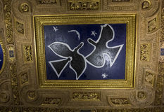 Henri II room ceiling, The Louvre, Paris, France Royalty Free Stock Photo