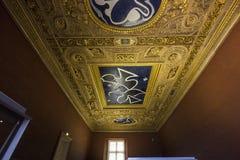 Henri II room ceiling, The Louvre, Paris, France Stock Photo