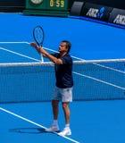 Henri Leconte, le plus grand comédien parmi des joueurs de tennis photographie stock libre de droits