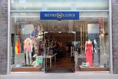 Henri Lloyd sailing apparel. LIVERPOOL, UK - APRIL 20: Henri Lloyd store on April 20, 2013 in Liverpool, UK. HL specializes in sailing, yachting and golfing stock image