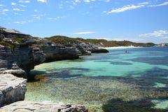 Henrietta Rocks. Rottnest Island. Western Australia. Australia. Rottnest Island is an island off the coast of Western Australia, located 18 kilometres west of Stock Image