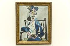 Dora Maar portrait by Picasso in Pinakothek der Moderne in Munich. Henriette Theodora Markovitch, pseudonym Dora Maar was a French photographer, painter, and Royalty Free Stock Images
