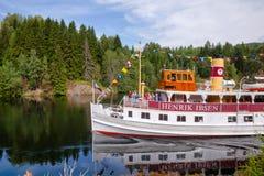 Henrik Ibsen ferryboat przy Telemark Kanałowy Telemark Norwegia fotografia stock