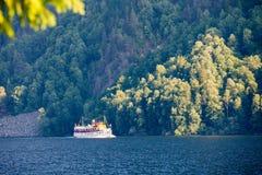 Henrik Ibsen ferryboat przy Telemark Kanałowy Telemark Norwegia zdjęcia stock