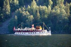 Henrik Ibsen ferryboat przy Telemark Kanałowy Telemark Norwegia obrazy stock