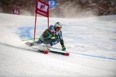 Henrik Kristoffersen. BANSKO, BULGARIA - FEBRUARY 24: Henrik KristoffersenNOR takes 1 st place at the Audi FIS Alpine Ski World Cup Men`s Giant Slalom on stock photos