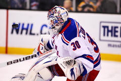Henrik Lundqvist makes a save Royalty Free Stock Photo