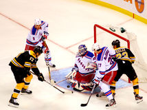 Henrik Lundqvist makes the save. Royalty Free Stock Photography