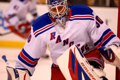 Henrik Lundqvist New York Rangers. Goalie #30 royalty free stock images