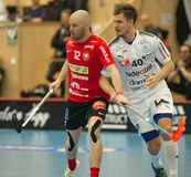 Henrik Stenberg vs Rikard Eriksson Royaltyfria Foton