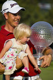 Henrik Stenson & Daughter 01 Royalty Free Stock Photo