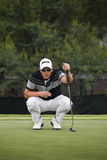 Henrik Stenson - Reading the Putt Stock Images