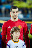Henrikh Mkhitaryan in match 1/8 finals of the Europa League between FC 'Rostov' and 'Manchester United', 09 March 2017 in royalty free stock photos