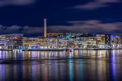 Henriksdal en Hammarby een voorstad dicht bij het water in Stockholm, Zweden Royalty-vrije Stock Foto