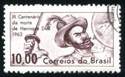 Henrique Dias напечатанное Бразилией Стоковые Изображения