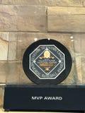 Henry Aaron MVP Award. Hank Aaron`s MVP Award on display at Sun Trust Field in Atlanta, Georgia Royalty Free Stock Image
