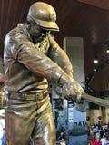Henry Aaron Statue. A bronze statue dedicated to Atlanta Braves legend Hank Aaron is displayed at SunTrust Park in Atlanta, GA Stock Photos