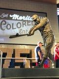 Henry Aaron Statue. A bronze statue dedicated to Atlanta Braves legend Hank Aaron is displayed at SunTrust Park in Atlanta, GA Stock Photography