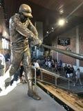 Henry Aaron Statue. A bronze statue dedicated to Atlanta Braves legend Hank Aaron is displayed at SunTrust Park in Atlanta, GA Royalty Free Stock Image