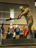 Henry Aaron Statue. A bronze statue dedicated to Atlanta Braves legend Hank Aaron is displayed at SunTrust Park in Atlanta, GA Stock Photo