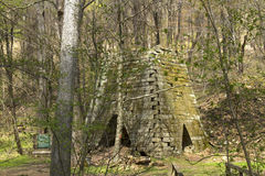 Henry Clay Furnace in Coopers Rock State Forest Stock Image
