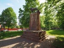Henry den Lyon monumentet i Luebeck Royaltyfria Bilder