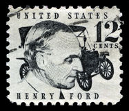 Henry Ford US Postage Stamp Stock Photo