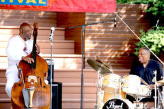 Henry Franklin & Billy Hart Play Jazz Royaltyfri Bild