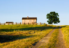 Henry-Haus am Manassas Schlachtfeld stockbilder