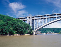 Henry Hudson Bridge. Fragment of the Henry Hudson Bridge, NYC Stock Image