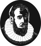 Henry Hudson Explorer Woodcut illustration libre de droits