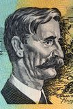 Henry Lawson portrait. From old Australian money Royalty Free Stock Image