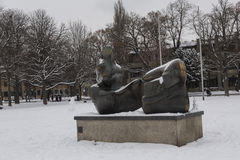 Henry Moore sculpture Royalty Free Stock Images