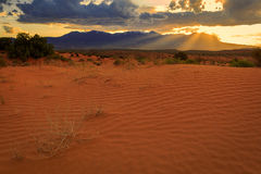 Henry Mountains sand dune sunset Stock Images