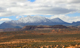 Henry Mountains in south Utah. View at Henry Mountains in south Utah Stock Photography
