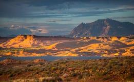 Henry Mountains, Zuid- Centraal Utah, Verenigde Staten Stock Fotografie