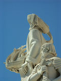 Henry the Navigator. Detail of the portuguese monument to the discoveries, Padrao dos Descobrimentos, located by the river Tagus in Belem, Lisbon. The statue Stock Images