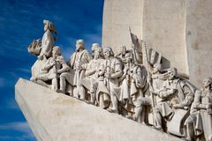 The Henry Navigator monument. Monumental monument, located in the Belém district of Lisbon known as Padrao dos descobrimentos Stock Photography