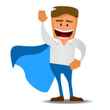 Henry the office worker as a super hero Stock Photo