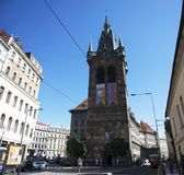Henry`s Bell Tower or Jindrisska Tower at New Town, Prague 1 in Prague, Czech Republic Royalty Free Stock Photo
