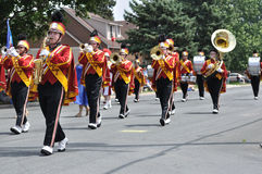 Henry Sibley High School Marching Band Performing Stock Photos