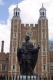 Henry VI Standbeeld, Eton Universiteit, Berkshire Royalty-vrije Stock Foto
