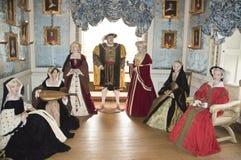 Henry VIII und seine sechs Frauen lizenzfreie stockbilder