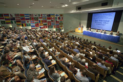 Henry Waxman Climate Change Forum Talk Royalty Free Stock Photo
