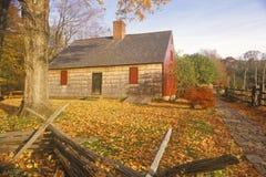 Henry Wick House hemmet av revolutionära soldater i Morristown parkerar, NJ Arkivbilder