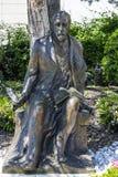Henryk Sienkiewicz-Statue in Vevey, die Schweiz stockbilder