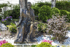Henryk Sienkiewicz statue in Vevey Stock Photo