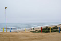 Henties Bay Beach front. In Nambia Stock Photos