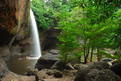 Heo素瓦瀑布, Khao亚伊国家公园 库存图片